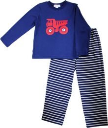 Boys truck stripe pyjamas