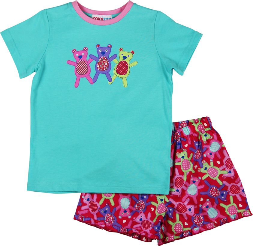 Girls teddy pyjamas