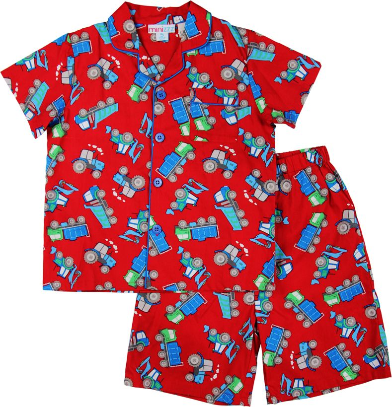 Boys construstion woven pyjamas