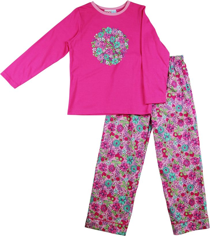 Girls strawberry patch pyjamas