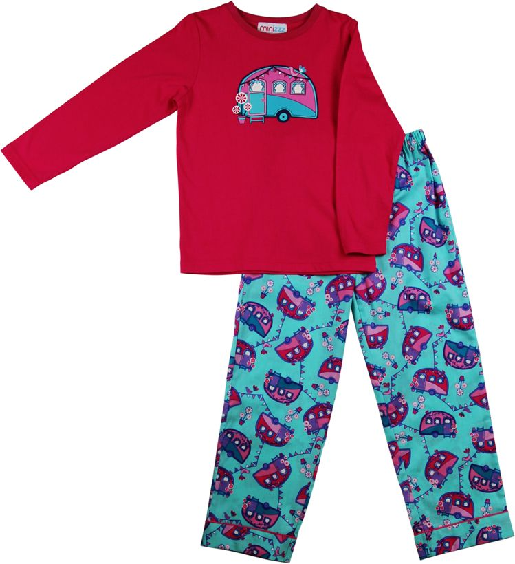 Girls caravan pyjamas