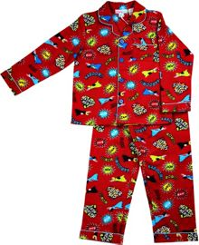 Boys super kid flannel pj