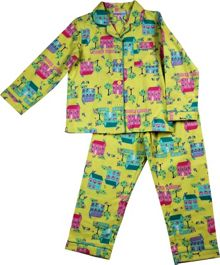 Girls little house flannel pj