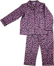 Girls leopard flannel pj