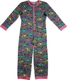 Girls pretty scooter onesie