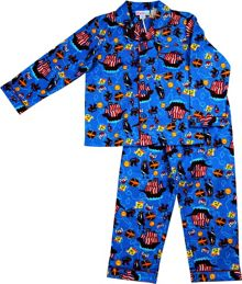 Boys pirates flannel pj