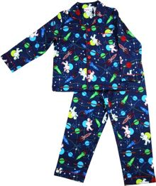 Boys space walk flannel pj