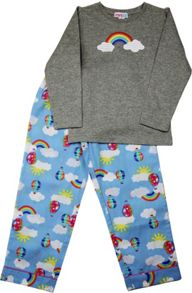 Girls Rainbow Long T-Shirt/ Long Pant