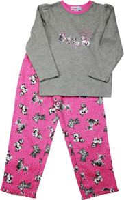 Girls Puppy Long T-Shirt/ Long Pant