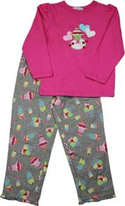 Girls Ice-Cream Long T-Shirt/ Long Pant