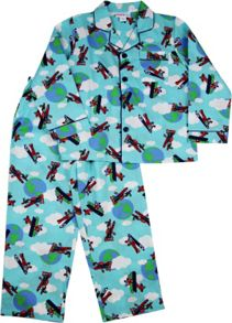 Boys Planes Long Pj
