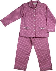 Girls pink spot flannel pj