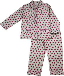 Girls rose print flannel pj