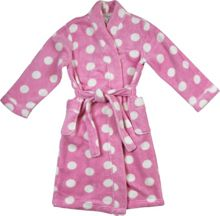 Girls pink spot robe