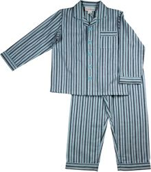 Boys blue stripe flannel pj
