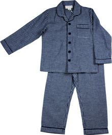 Boys navy gingham flannel pj