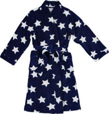 Boys navy star robe
