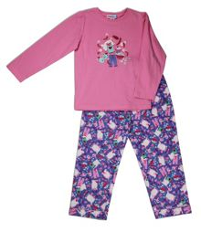Mini ZZZ Slumber Party knit top/flannel pant
