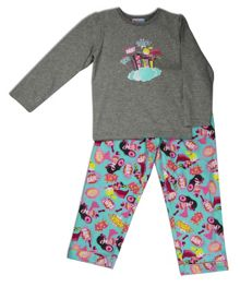 Mini ZZZ Girls Superhero knit top/flannel pant