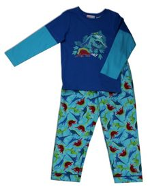 Mini ZZZ Dinosaurs knit top/flannel pant