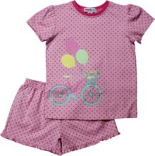 Girls Spot T-Shirt And Woven Boxer