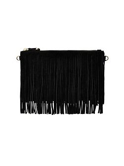 Mighty Purse fringe power bank crossbody bag