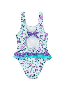 Girl`s rose swimsuit upf50+