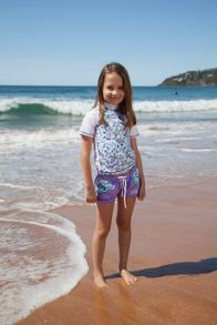 Girls rose lycra boardie UPF50+