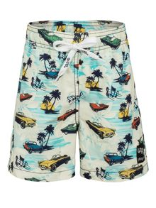 Platypus Australia Boys retro car swim short UPF50+