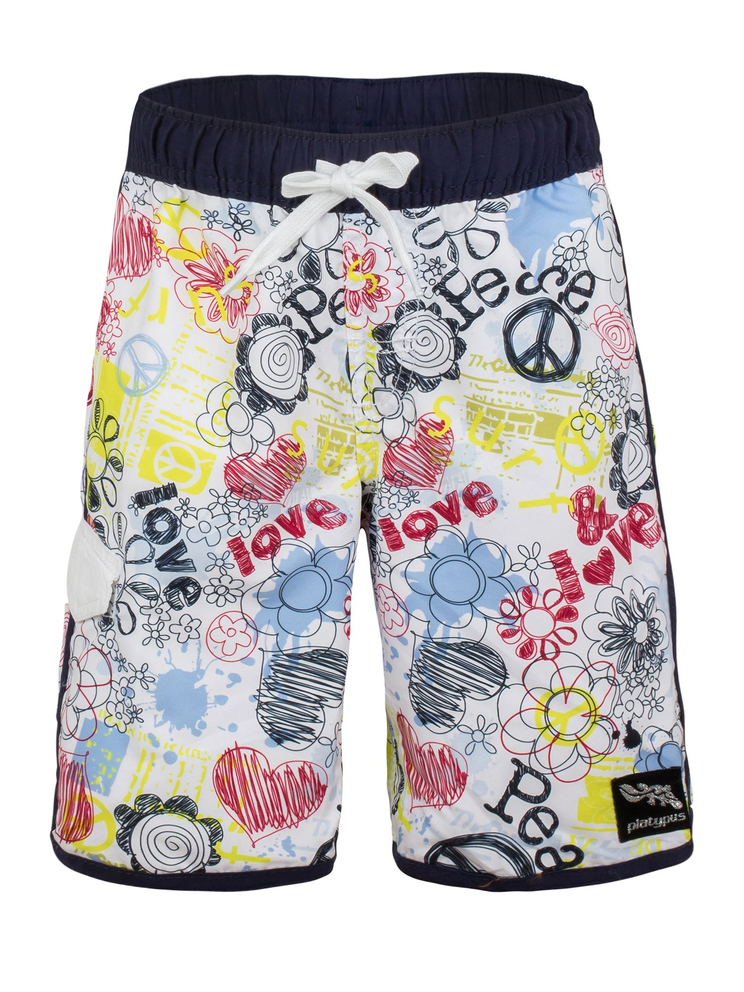 Boy`s flower power slim boardshort upf50+