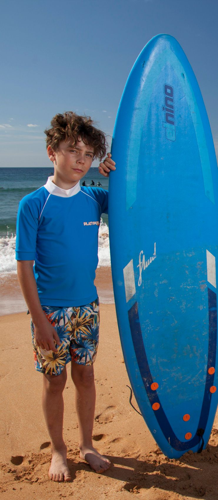 Boy`s surf short sleeve sunshirt upf50+