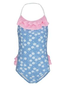 Platypus Australia Girls UPF50+ frill swimsuit