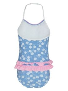 Girls UPF50+ frill swimsuit