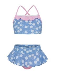 Platypus Australia Girls UPF50+ tankini with frill