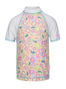 Platypus Australia Girls UPF50+  Paisley Fitted Sunshirt SS