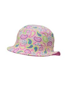 Girls UPF 50+ Paisley Bucket Hat