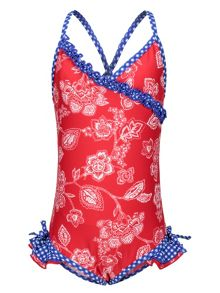 Girls UPF50+ fru fru swimsuit