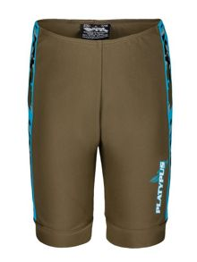 Boys UPF 50+ Turq Camo Bike Short