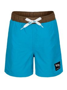 Boys UPF 50+ Turq Camo Swim Short