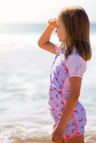 Platypus Australia Girls UPF50+ Seashells Fitted Sunshirt