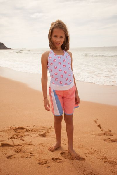 Platypus Australia Girls UPF50+ Seashells Long Boardshort
