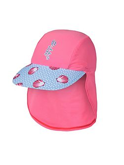 Girls UPF50+ Seashells Cap