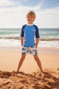 Platypus Australia Boys UPF50+ Retro Hawaii SS Sunshirt