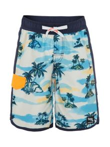Platypus Australia Boys UPF50+ Retro Hawaii Slim Boardshort