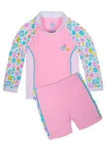 Platypus Australia Girls UPF50+ Bloom LS Baby Sunset
