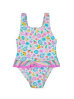 Girls UPF50+ Bloom Baby Swimsuit