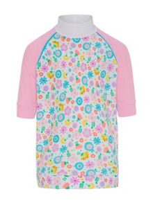 Platypus Australia Girls UPF50+ Bloom SS Sunshirt