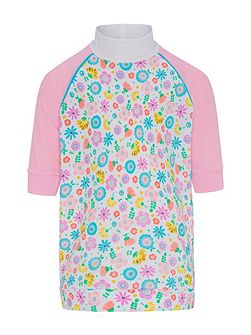 Girls UPF50+ Bloom SS Sunshirt