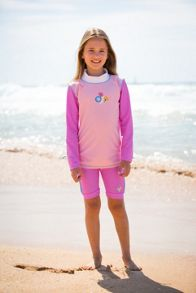 Platypus Australia Girls UPF50+ Bloom LS Ruched Sunshirt