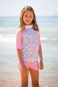 Platypus Australia Girls UPF50+ Bloom Lycra Boardie